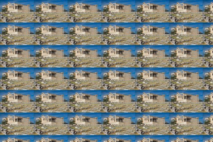 Vinylová Tapeta Starověký chrám Erechtheion v Aténách v Řecku akropole na modré sk - Evropská města