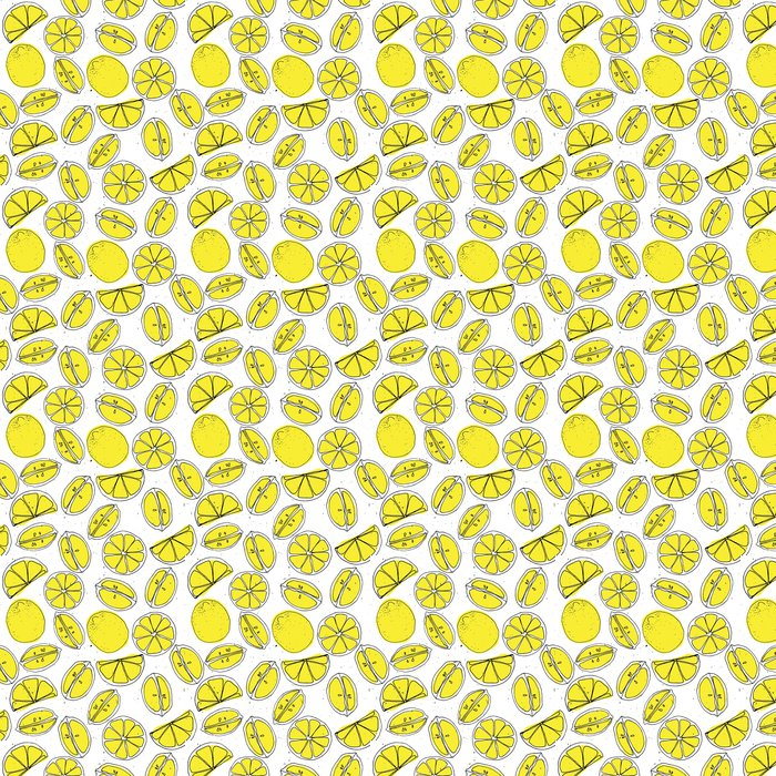 tapete gelbe zitrone hand zeichnen nahtlose muster mit. Black Bedroom Furniture Sets. Home Design Ideas