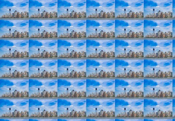 Vinylová Tapeta Pohled z Ostrova svobody - Americká města