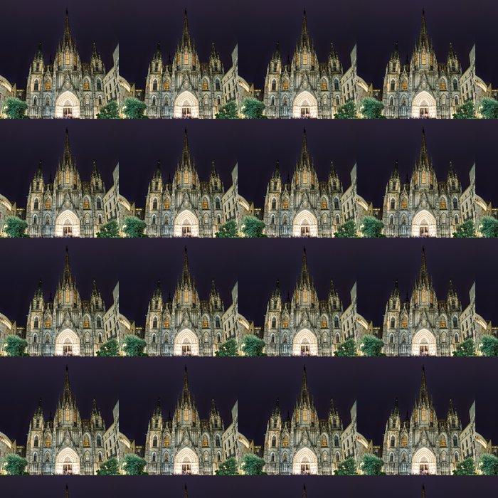 Vinylová Tapeta Gotická katedrála Barcelona v noci, Španělsko - Témata