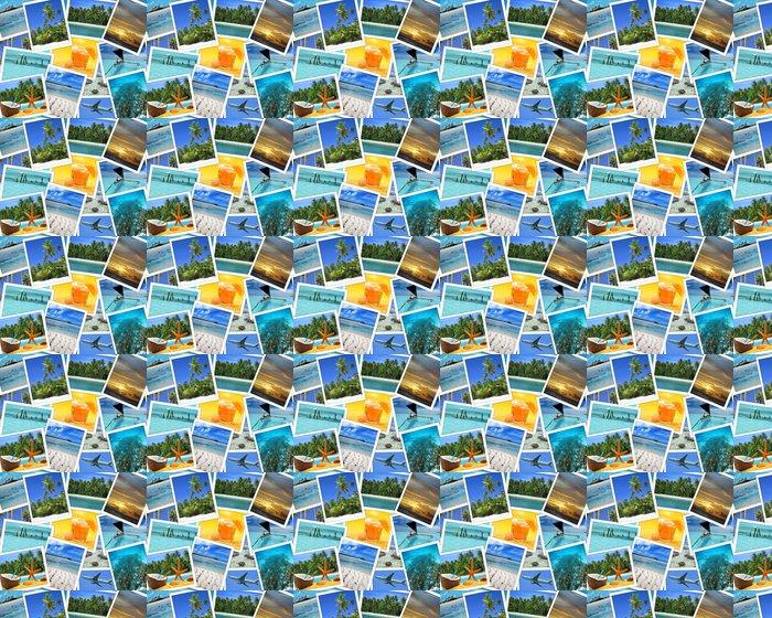 Vinylová Tapeta Koláž z tropických destinacích - Prázdniny