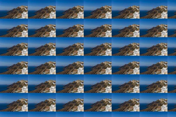 Vinylová Tapeta Home se nachází na červené skály. Santorini, Řecko - Evropa
