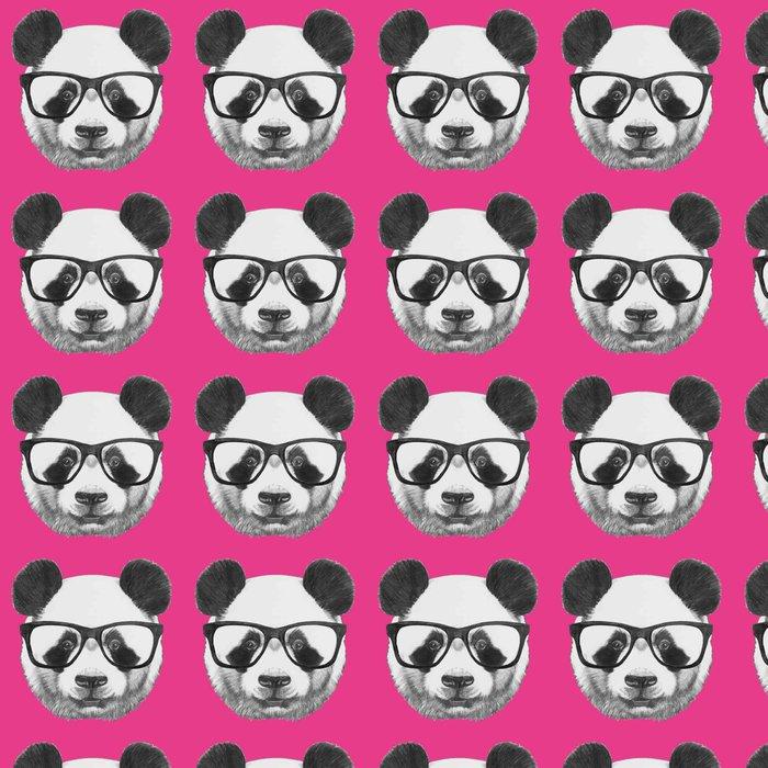 Vinylová Tapeta Ručně kreslenými portrét Panda s brýlemi. Vektorové izolované prvky. - Zvířata
