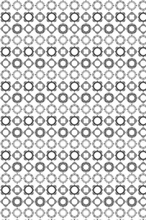 Vinylová Tapeta Retro ozdobné vektorové rámečky - Značky a symboly