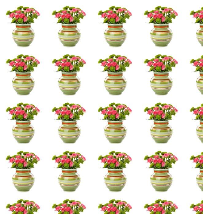 Vinylová Tapeta Květiny ve váze na bílém pozadí - Květiny