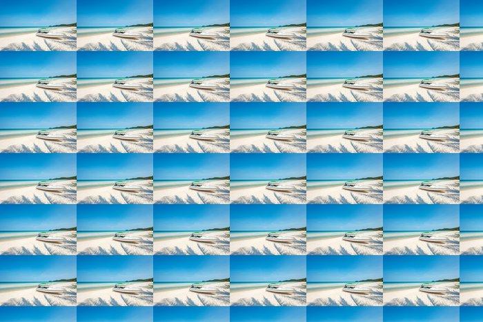 Vinylová Tapeta Motorový člun na tropické pláži - Voda