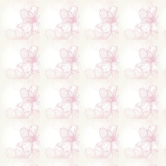 Vinylová Tapeta růžové květiny -