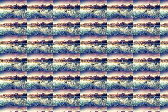 Vinylová Tapeta Jezero v horách - Evropa