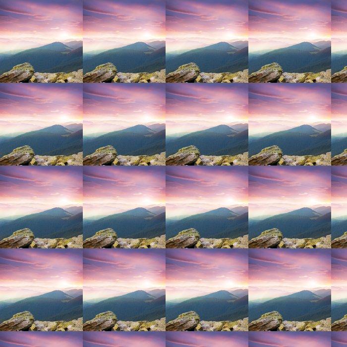 Vinylová Tapeta Red majestátní slunce nad horami - Roční období