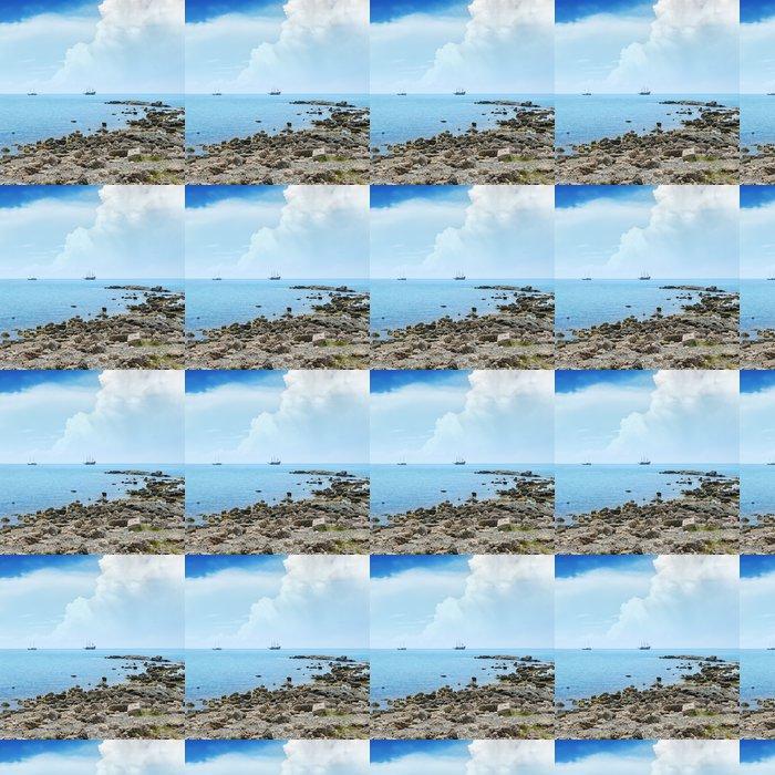 Vinylová Tapeta Malé laguny a plachetnice na obzoru - Voda