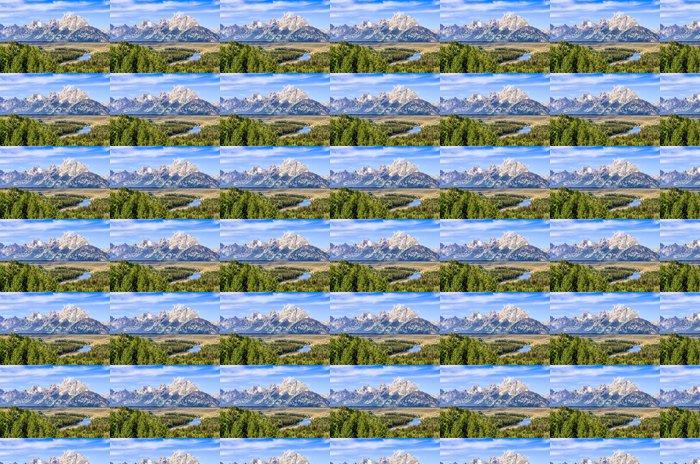 Vinylová Tapeta Grand Teton hory scénický výhled na řeku Snake - Amerika