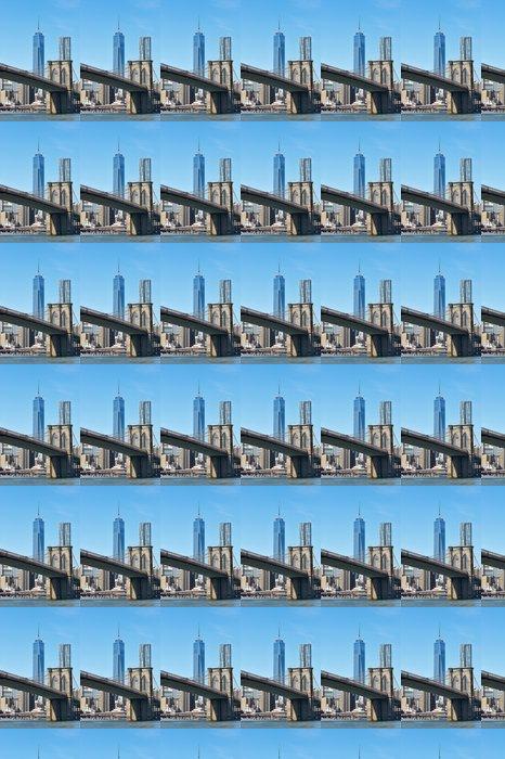 Vinylová Tapeta Brooklyn Bridge s nižší Manhattan skyline - Americká města