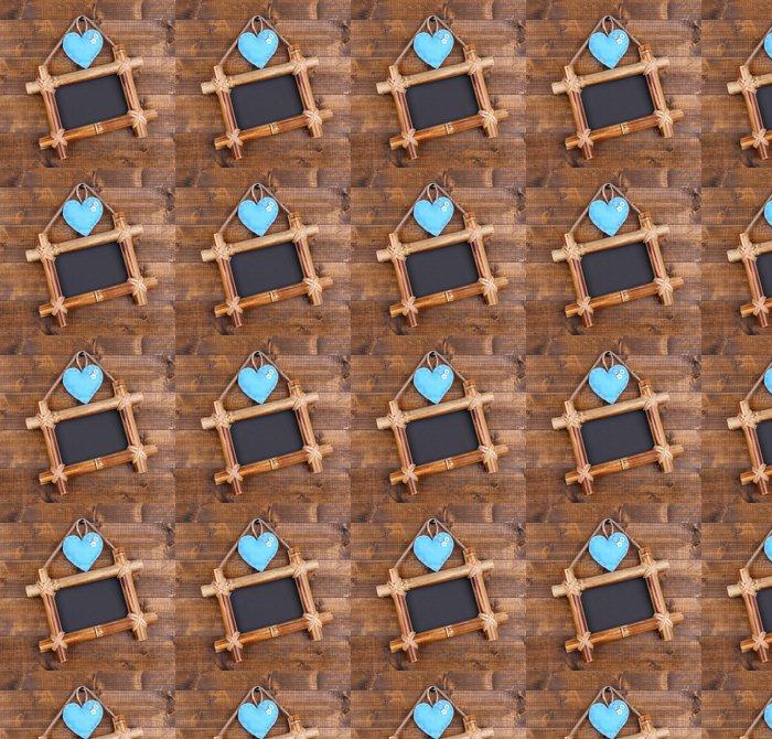 Vinylová Tapeta Obdélníková tabule na dřevěném pozadí - Móda