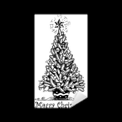 Adesivo Albero Di Natale Stilizzato Disegno 1 Pixers Viviamo