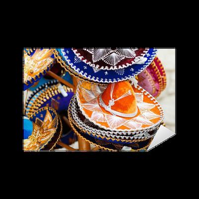 Adesivo Cappelli messicani • Pixers® - Viviamo per il cambiamento 0fef4c98698d