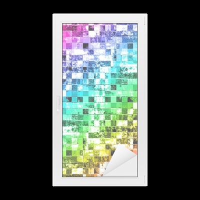 Adesivo per vetri finestre sfondo colorato grunge stile for Adesivi per vetri ikea