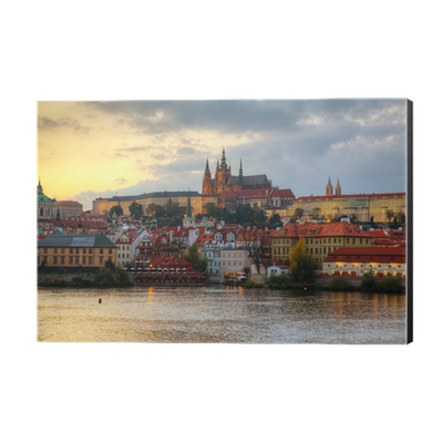 Overview Of Old Prague From Charles Bridge Side Aluminium