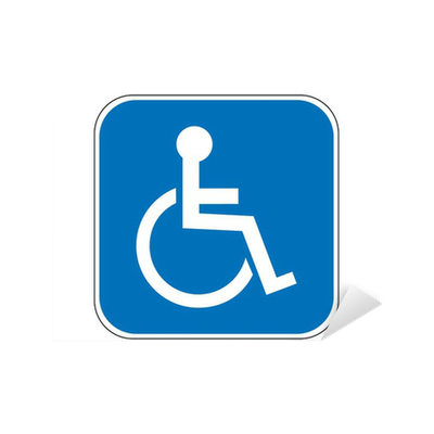 Aufkleber Behinderte Rollstuhl Zeichen Pixers Wir Leben Um Zu Verändern