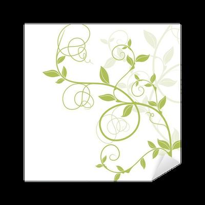 Aufkleber bord re dekor vectoriel vert florale musterung for Fliesenaufkleber bordure