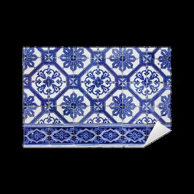 Aufkleber Handgefertigte Traditionelle Portugiesische Fliesen - Portugiesische fliesen azulejos