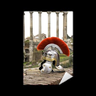 Aufkleber Römischer Soldat Helm Vor Dem Fori Imperiali Rom Italien Pixers Wir Leben Um Zu Verändern