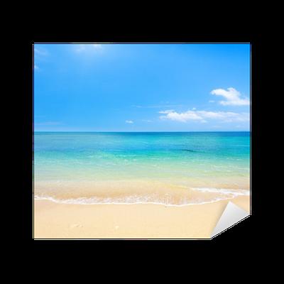 aufkleber strand und tropischen meer • pixers® - wir leben