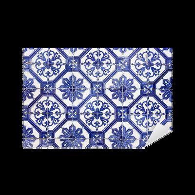 Aufkleber Traditionelle Portugiesische Fliesen Azulejos Lissabon - Portugiesische fliesen azulejos