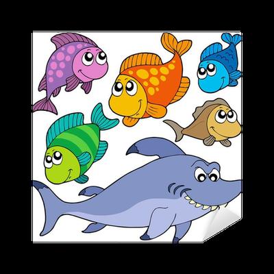Aufkleber verschiedene comic fische sammlung pixers wir leben um zu ver ndern - Fliesenaufkleber fische ...