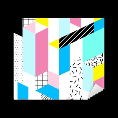 Autocolante Pixerstick padrão geométrico sem emenda