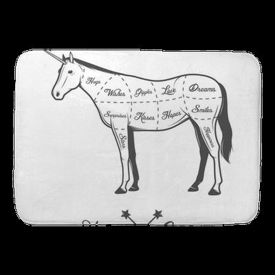 Funny Halloween Cuts Of Unicorn Diagram Bath Mat Pixers We Live