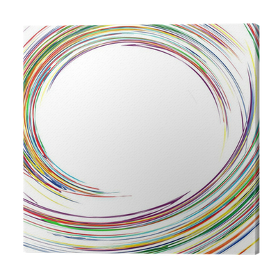 Abstract rainbow curved lines colorful background Canvas ...