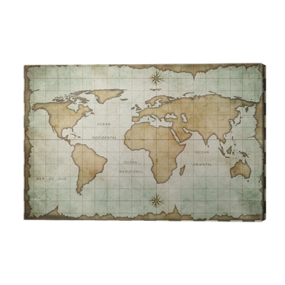 Aged old world map canvas print pixers we live to change gumiabroncs Gallery