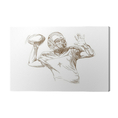 American Football Player This Is Original Sketch Canvas Print Pixers We Live To Change