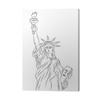 American Statue Of Liberty Sketch Canvas Print Pixers We Live To Change