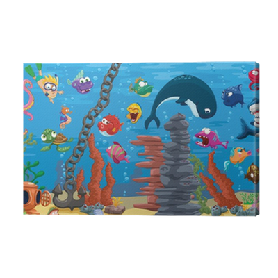 Aquarium with plenty of fish canvas print pixers we for Www plenty of fish com
