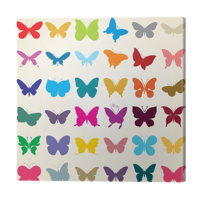 Butterflies Silhouettes Set Of Various Shaped Butterfly Canvas Print Pixers We Live To Change