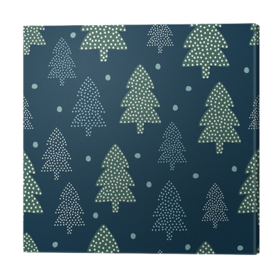 Christmas Pattern Xmas Trees And Snow Happy New Year