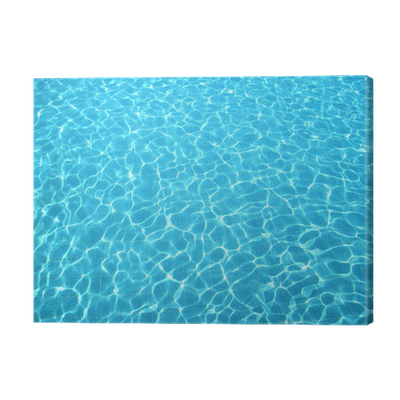 Clear blue water in swimming pool canvas print pixers - How to make swimming pool water blue ...