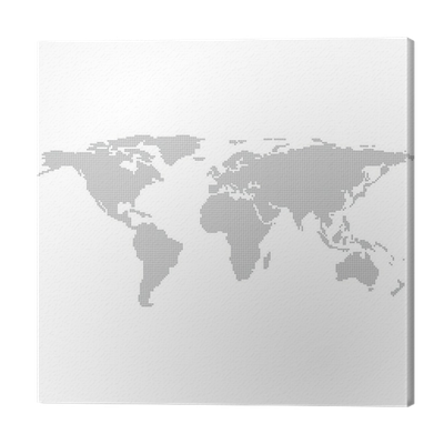 Dots grey world map vector illustration canvas print pixers we dots grey world map vector illustration canvas print pixers we live to change gumiabroncs Image collections