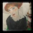 Egon Schiele - Portrait of Gerti Schiele Canvas Print