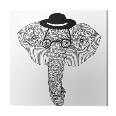 Elephant Head Canvas Print Pixers We Live To Change