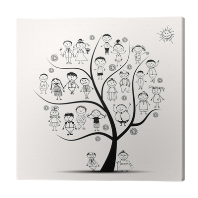 Family Tree Relatives People Sketch Canvas Print Pixers We Live To Change
