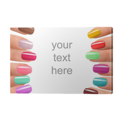 Funky Fingers Nail Polish Canvas Print Pixers 174 We Live