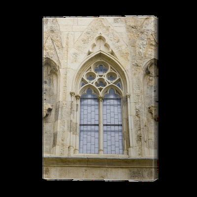 Gothic Window House At The Bell U Zvonu Prague Canvas Print O PixersR We Live To Change
