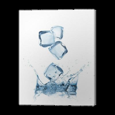 Ice Cubes In Water Splash Canvas Print Pixers We Live To Change