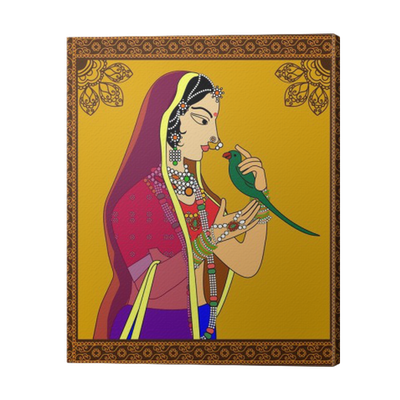 Indian Queen/ princess portrait -inspired by 16th century India ...