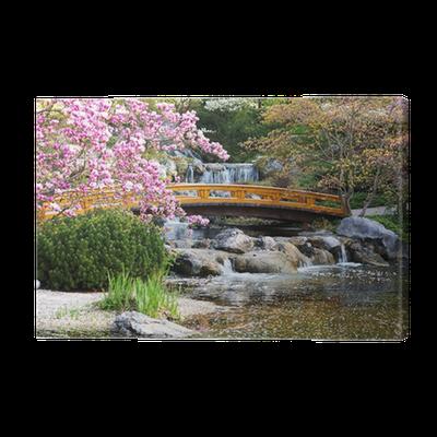 japanischer garten im fr hling canvas print pixers we