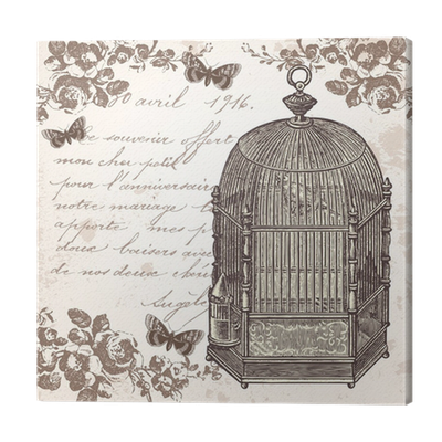 la cage aux oiseaux canvas print pixers we live to change. Black Bedroom Furniture Sets. Home Design Ideas