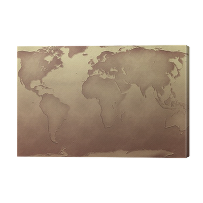 Sepia Tone World Map Canvas Print Pixers We Live To Change - World map sepia toned