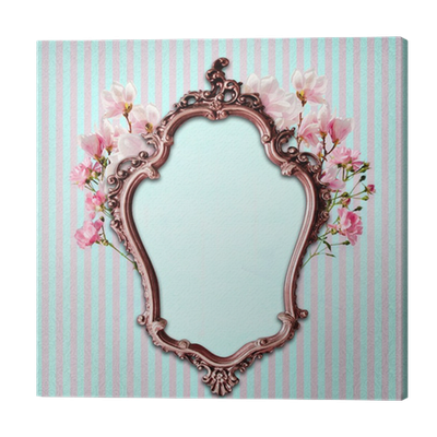 Shabby Chic Background With Antique Frame Canvas Print O PixersR We Live To Change